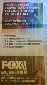 CNBC, cnbc.com, Fox Business, television, newspaper, attack