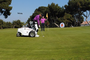 Monique Kalkman lidera el European Challenge for Wheelchair Golfers en Terramar