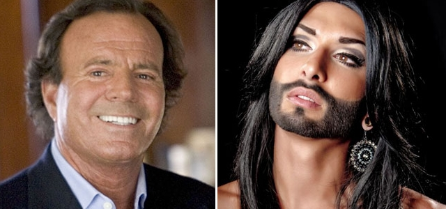 Julio Iglesias expresó su apoyo a la  austríaca Conchita Wurst